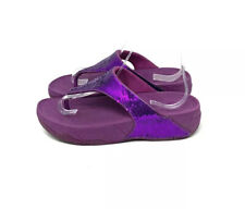 Fitflop Purple Sequin Thong Sandals Women's Size 7