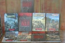 Flames of War World War Ii Miniature Game Hardcover Softcover Book Lot of 9