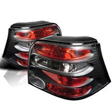 Volkswagen 99-06 Golf GTI R32 Black Rear Tail Brake Lights MK4 GL GLS TDI