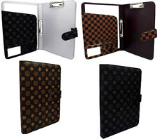 NEW A4 Conference File Pad Folder Faux Leather Portfolio Organiser Ring Binder