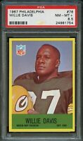 1967 Philadelphia FB Card # 76 Willie Davis Green Bay Packers PSA NM-MT+ 8.5 !!!