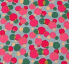 Hot Pink Dots BTY Heritage Studio Collection by Fabric Traditions Green Blue Red