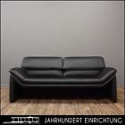 Hans Kaufeld by De Sede | 2er Leder Sofa schwarz mit klappbarer Rückenlehne TOP