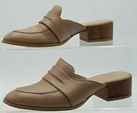 Womens Next Premium Slip On Shoes Beigh Leather Loafers Size 6.5 #