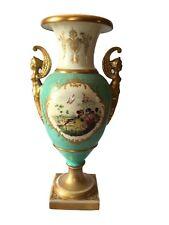Antique Chelsea turquoise-ground baluster vase