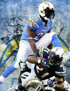 San Diego/ L.A. Chargers Lithograph print of LadainianTomlinson