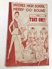 VINTAGE 1958 HUGHES HIGH SCHOOL CINCINNATI OHIO MERRY-GO-ROUND MUSICAL PROGRAM