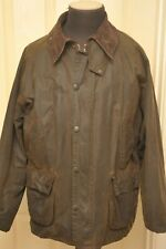 "BARBOUR A835 CLASSIC BEDALE 44"" LARGE WAX COTTON JACKET SYKOIL DARK OLIVE BROWN"