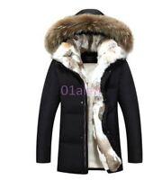 Mens Big Fur Collar Goose Down New Hooded Winter Hot Overcoats Coats Vogue Parka