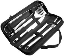 5 Piece Stainless Perfect BBQ Tools Set, Barbecue Grilling Stainless Steel - NEW