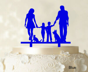 Family Cake Topper Personalized Cake Topper Color Option-9UO