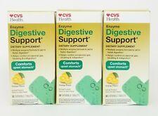 Lot of 3 CVS Enzyme Digestive Support Orange Flavor 30 Chewable Tablets Each