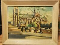 Original Oil Painting On Wood Signed Jean J Capron Vintage