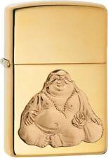 Zippo 29626, Happy Buddha, Emblem, High Polish Brass Finish Lighter