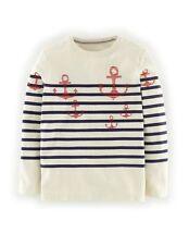 Mini Boden Breton T-shirt Henley  Boys Shirt Size 11 - 12  Y