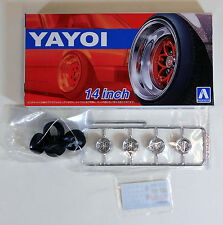 "Aoshima 1/24 Yayoi 14"" Wheel & Tire Set For Plastic Models 5256 (17)"