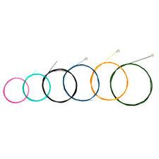 Multi Colored Nylon Classical Guitar Strings Set for 6 String Guitars, 6pcs