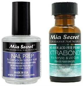 Mia Secret Nail Prep Dehydrate 0.5 oz & Xtra Bond Primer 0.5 oz