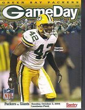 Green Bay Packers Gameday Program Oct 3 2004 vs New York Giants Darren Sharper