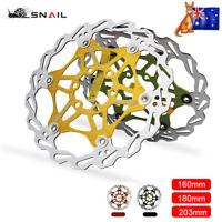 SNAIL 160/180/203mm MTB Bike Floating Disc 6 Bolts Disc Brake Rotor AL7075(-T6)