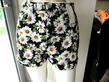Cotton Blend High Waist Casual Shorts for Women