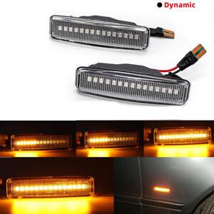For BMW E39 525i 528i 530i 540i 97-03 Dynamic LED Side Marker Blinker Lights 2X
