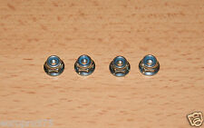 Tamiya 9805557/19805557 4mm Flange Lock Nut (4 Pcs.) (Wheel Nuts) TT01/TT02/DT02