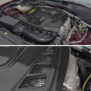 Carbon Fiber Front Hood Vented Bonnet Cover Fit For Alfa Romeo Giulia 2017-2021