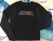 Harley Davidson Sweater Crewneck with Spell Out Wool Blend Men's Medium