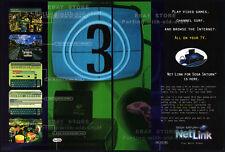 SEGA SATURN NetLink__Original 1997 Print AD / promo__Sega Net Link Web Browser