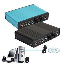 USB 6 Channel 5.1 External Optical Sound Card Audio Adapter for Notebook PC