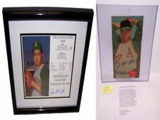 Yankee Jim Catfish Hunter Oakland A's Framed Signed Poster Picture
