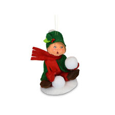 Annalee Dolls 2021 Christmas 3in Kid with Snowball Plush Ornament New with Box