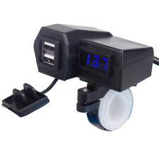 12V Waterproof Motorcycle Phone GPS Power Socket USB Charger Voltmeter For Honda