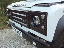 LAND ROVER DEFENDER KBX FRONT GRILLE & LAMP SURROUNDS GRILL - SATIN BLACK - NEW