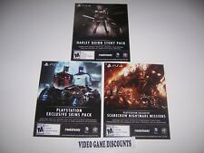 3 DLC CODES for Batman Arkham Knight PlayStation 4 PS4 - VALID & NOT EXPIRED