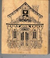 PSX Heart Love Victorian House Rubber Stamp F-363 Cottage  S2