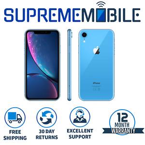 Apple iPhone XR Blue 64GB 🍎 Sim FREE Network Unlocked iOS Smartphone - A1984