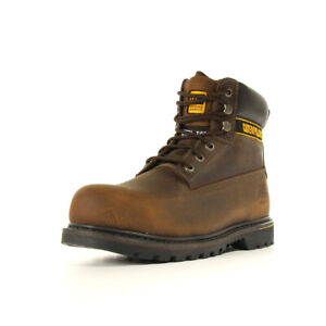 Chaussures Boots Caterpillar homme Holton SB taille Brun Brune Cuir Lacets