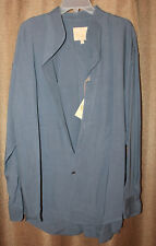983b5378 Men's Stubbs Western Wear Long Sleeve Shirt NWT Shale GRay No Buttons Size  XL