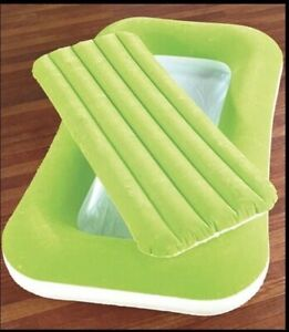 Bestway 52x30x8 Green Inflatable Kiddie Bed Kids Bed New Open Package