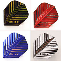 RIBTEX EXTRA TOUGH STRONG DART FLIGHTS, Standard Shape - 6 Colours - 1/5/10 Sets