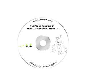 The Parish Registers Of Branscombe Devon 1539-1812