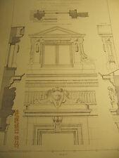 Planche Hôtel de M Le Comte du Chastel Bxl Détails 2e étage + lucarne 1893