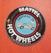 "Vintage! 1968 MATTEL HOT WHEELS RED LINE ""'CHAPARRAL 2G"" TIN Badge Button"