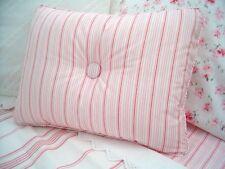NEW Custom Ralph Lauren Summer Cottage Pink Stripe Accent Pillow 1 Button
