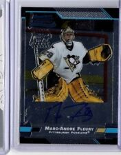 2003-04 BOWMAN CHROME ROOKIE AUTOGRAPH MARC ANDRE FLEURY RC #152 093/250