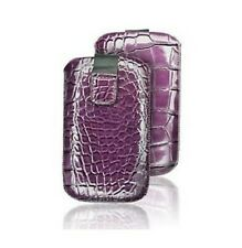 Housse Etui Pochette Croco Iphone 4 4S Violet