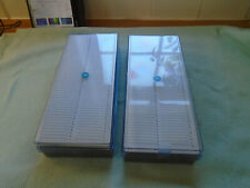 2 x Vintage Agfa Plastic 35mm Photo Slide Storage Boxes