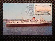 ISLE OF MAN MK 1982 SHIPS SCHIFFE MAXIMUMKARTE CARTE MAXIMUM CARD MC CM a7539